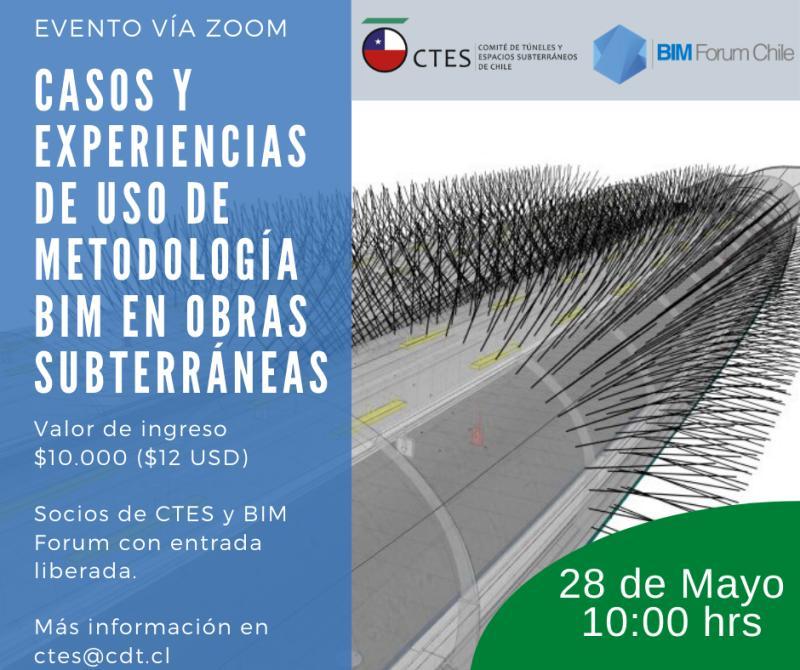 Webinar: «Casos y experiencias de uso de metodología BIM en obras subterraneas